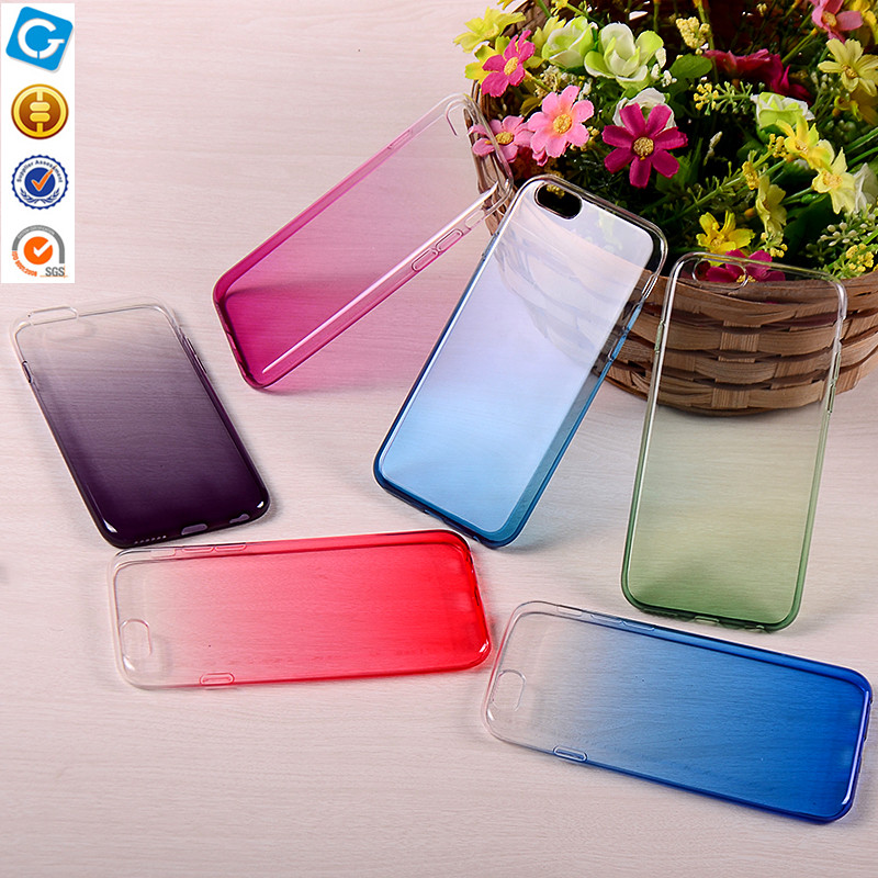 Gradual change colors hard mobile phone case for iphone6 which resist scratched