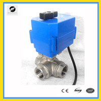 10NM electrical water switch 3port IP67 CTF-001 DC24V AC220V T tpye water flow control system