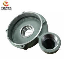 customized grey ductile iron pump parts sand casting with machining