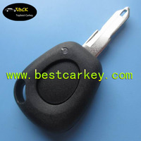 Topbest car key hull with 1 button remote shell with battery holder no logo car key shell