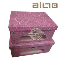 wholesale bubble Baroque design printed foldable paper shoe box