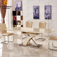 Malaysian design expansible high gloss dining room set table and chairs