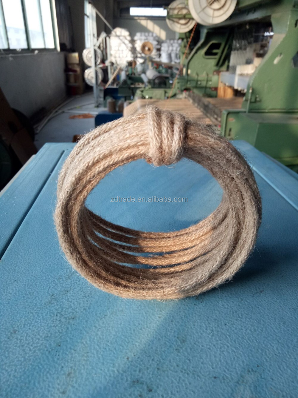 Trendy 5mm Wired Jute cord for Craft, Outdooring rope, Home Decorating, Gardening, scrapbooking