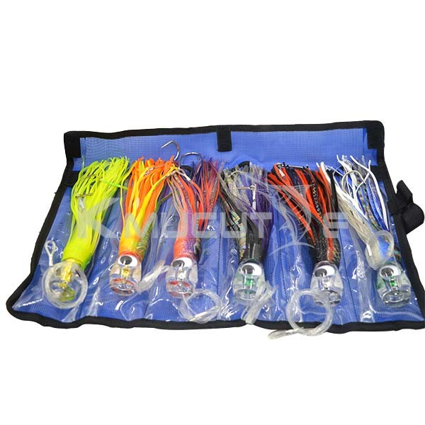 New 2016 wholesale fishing tackle big game trolling lure marlin tuna lures 6 pieces in a pack