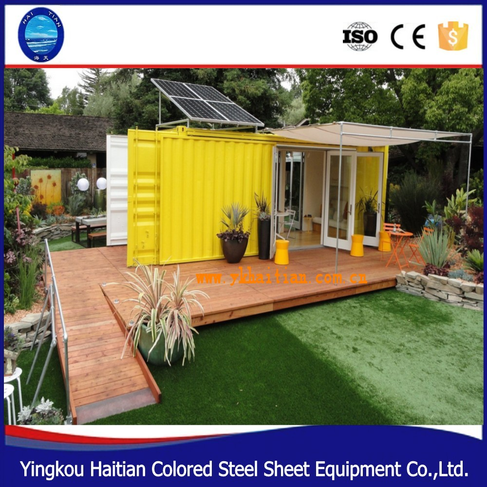 Cheap pre-made solar power container house in south africa shipping living cabin container mobile home with bathroom price
