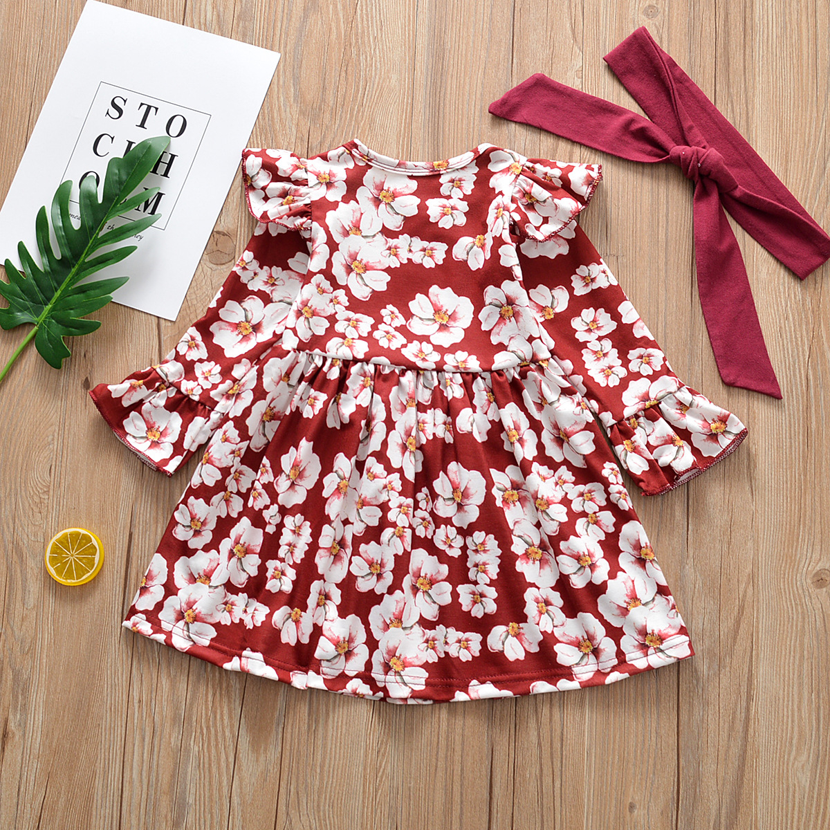 2019 New Style little girls Dress Pink Floral Casual Girl's Dresses