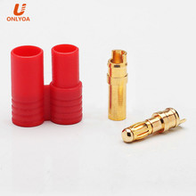 hxt 3.5mm gold bullet plug banana connectors for rc model lipo battery