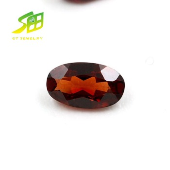 hot sale oval shape baguette shape natural garnet jewelry stone