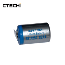 ER14250 1/2AA 3.6V lithium battery with solder tags