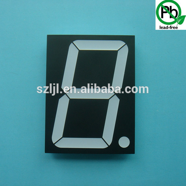 Customized 7 Segment led display, 1.5 Inch Single Digit for Machinery Equipment