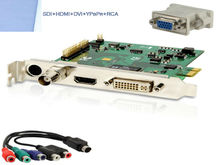 1080P Video Capture Card with HDMI SDI DVI VGA YPbPr & RCA