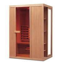 Corner Traditional Far Infrared Solid Wood Sauna Rooms, Infrared Sauna Cabin 06-G9