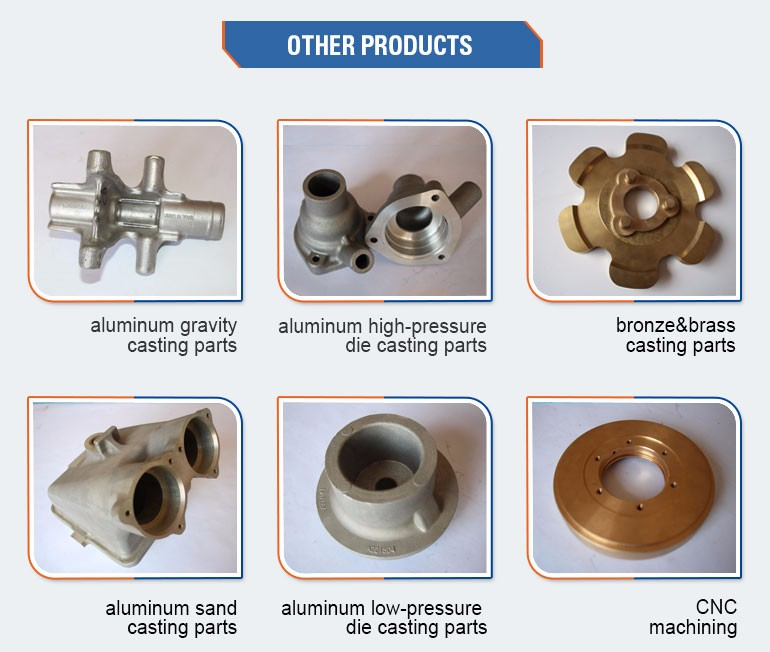 Oem Or Odm Cheap copper aluminium low pressure die casting parts for auto
