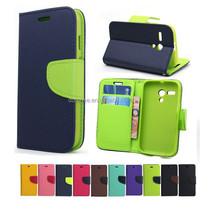 Colorful book style phone flip leather case for google Nexus4 E960 with stand function and card slot
