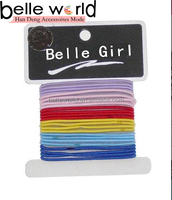school colors mixed elastic hair bands for girls