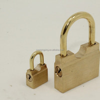 Slid Opening Brass Padlock With 35MM