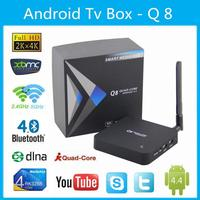 Voxlink Q8 Android TV box RK3288 Quad Core 4K 1.8Ghz ,2G/8G HDMI Media Player with Antenna 2.4G+5G D