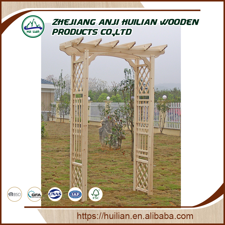 Modern Garden Decorative Outdoor Garden Arch Wood Pergola