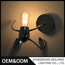 Creative design funny home decoration retro industrial wall light american