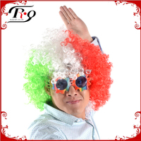 carnival wigs mixed three colors football fans afro wig