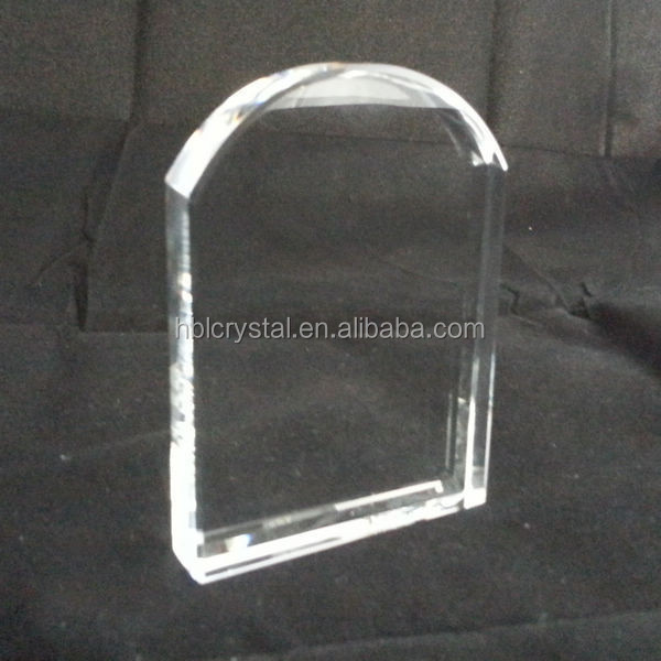 Wholesale door shape k9 crystal glass for laser engraving gift