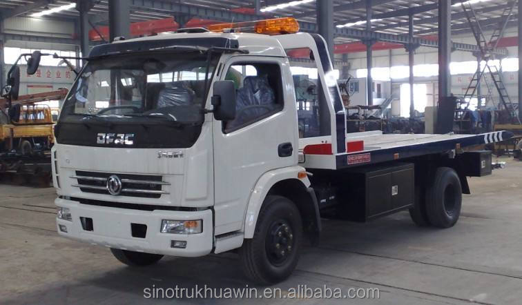 Dimensions Customized HOWO flat bed 4x2 Recovery Truck