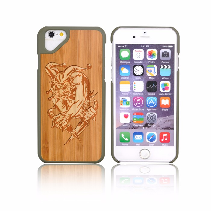 OEM Acceptable Walnut Bamboo PC TPU Cell Phone Case