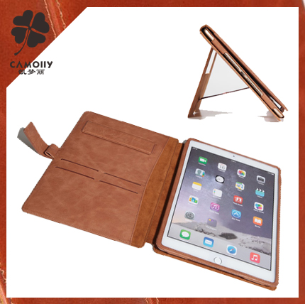 china supplier wholesale genuine leather case for apple ipad air 2 tablet leather case for Ipad air 2