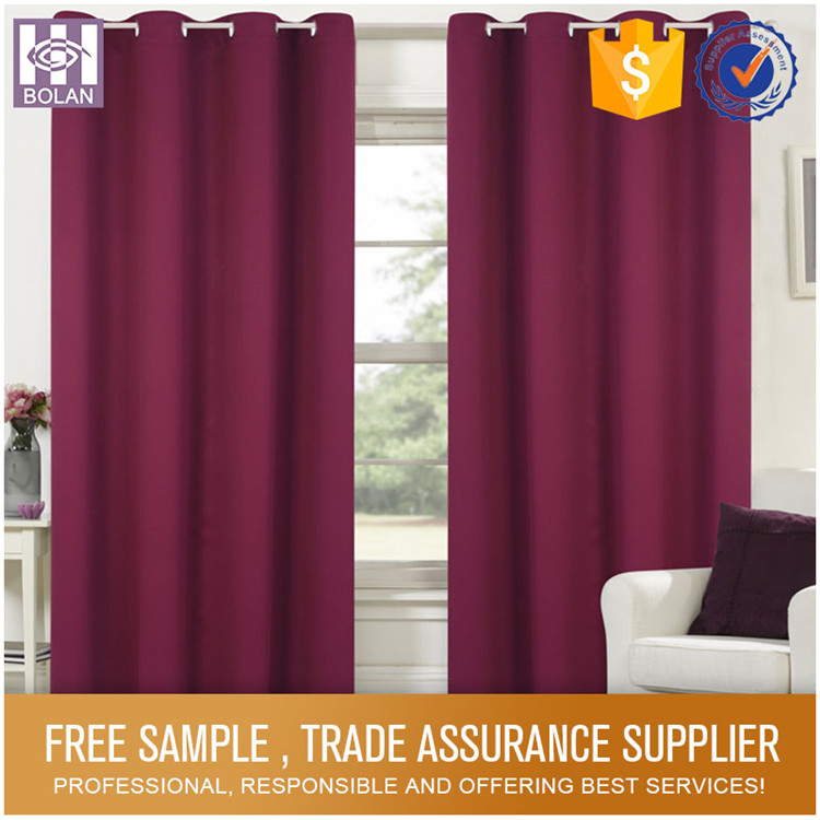 Luxury five star hotel rainbow colored curtain