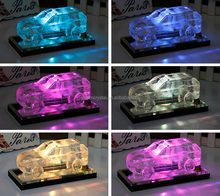 Nice Hummer Crystal Glass car model For Gifts WIth LED Lights