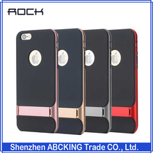 Original ROCK Royce Series Luxury Slim Armor Cover Stand Protective Case For Apple iphone 6 / 6S / 6 Plus / 6S Plus Retail Box