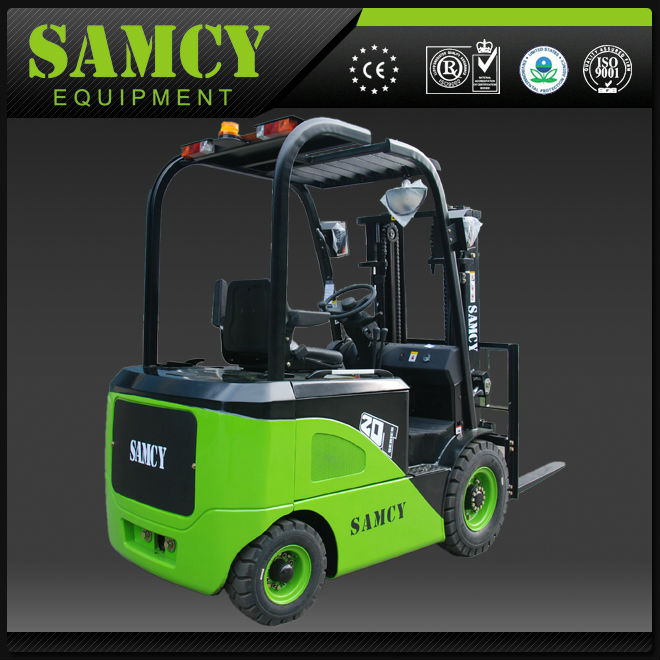 three wheel used electric forklift battery 1.5t