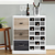 Hot!!! Trinity Black Wood Fold Away Wooden Hanging Bar Cabinet
