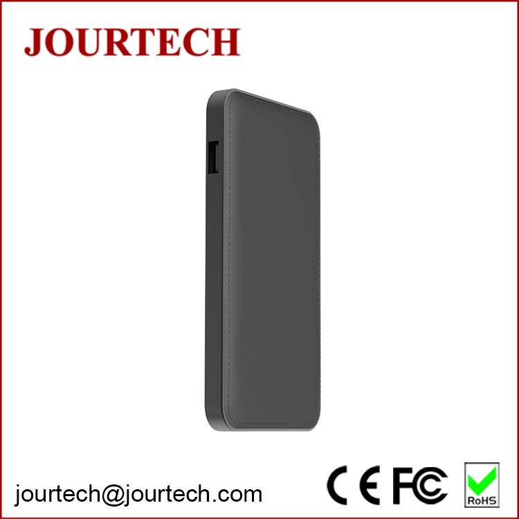 Shenzhen factory wholesale 9000mAh leather ultra slim polymer power bank for smartphone