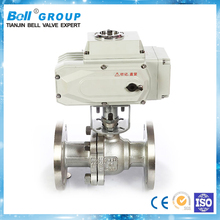 Motorized PN16 flange ball valve molten salt