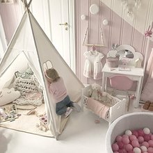 Factory Hotsale Cotton Canvas Baby Teepee,Indoor Tent For Kids