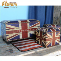 extra large thin wood storage box set , decoration suitcase box