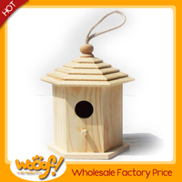 Hot selling pet dog products high quality small wood crafts bird house