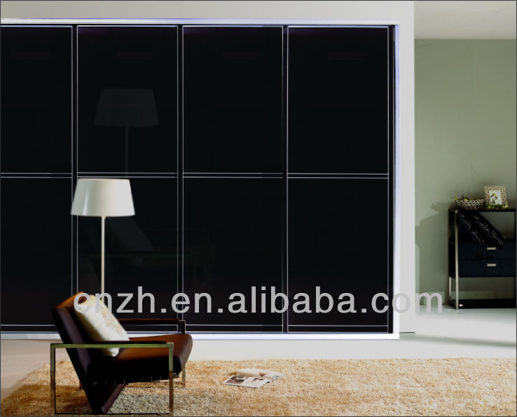 Modern Bedroom Cabinets High Gloss Wardrobe With Glass