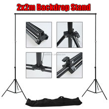 Photography Studio Photo Video Screen Background 2m x 2m Backdrop Stand Kit Set
