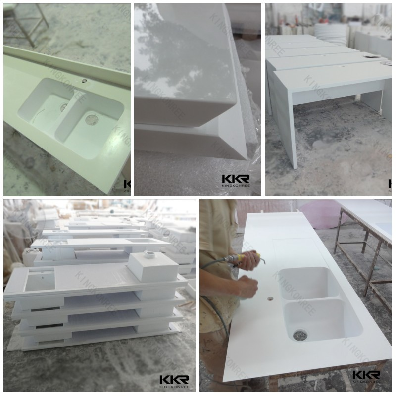 Integrated Countertop With Stanless Steel Sink Artificial