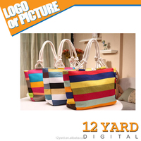 Ladies New Fashion Colorful Sport &Shopping Handle Bag Outdoor Beach Bag With Large Capital