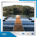 5.8m*2m galvanized steel frame with wood covered floating deck, marine walkway