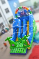 Safary Inflatable Forest Animal World Slide with Two lane and Climbing