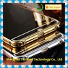 2015 Hight quality 24K gold All in one Luxury Aluminum Acrylic cell phone case with mirror, for samsung s6 mirror case