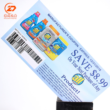 Custom Made Cheaper Paper Lucky Draw Coupon Printing Discount Coupons