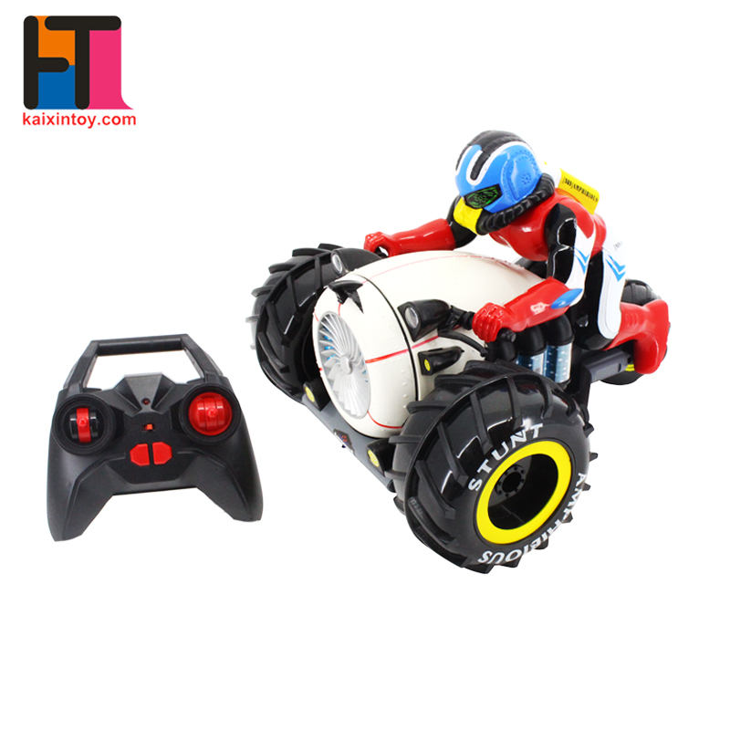 alibaba china 2.4G cool model plastic stunt car amphibious rc motorcycle for kids