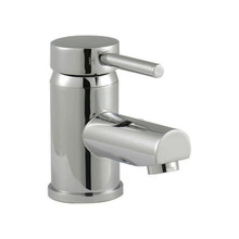 Chrome Eco-Click Mono Basin Faucets With Push Button Waste MP78