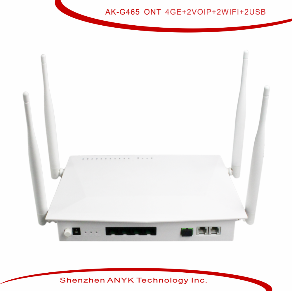 High Quality FTTH triple play ONU 4FE 2FXS and 11ac WiFi gpon ont