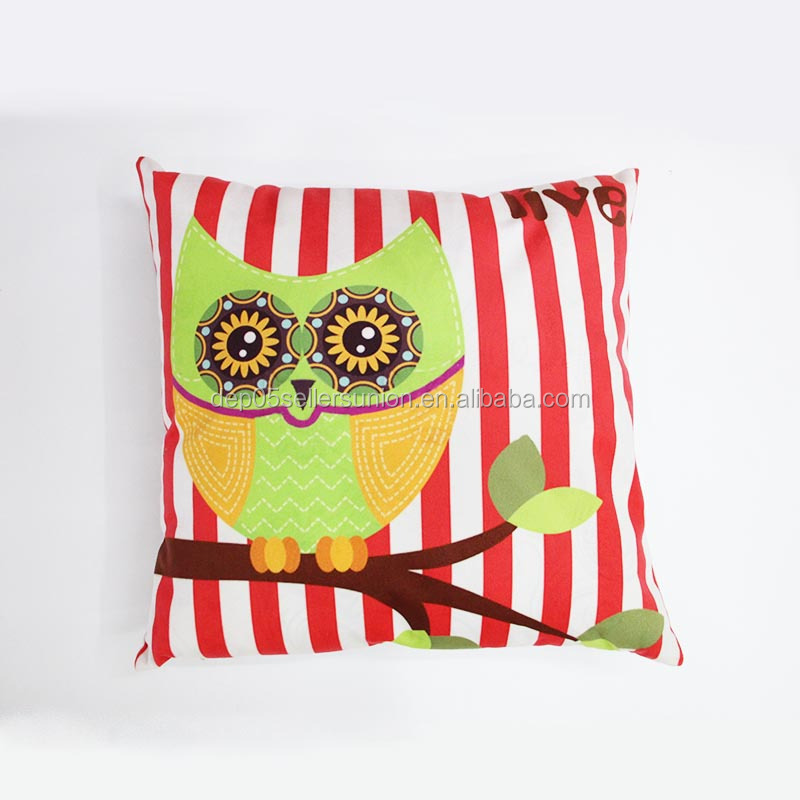 New arrival night owl printed design home sofa cushion cover